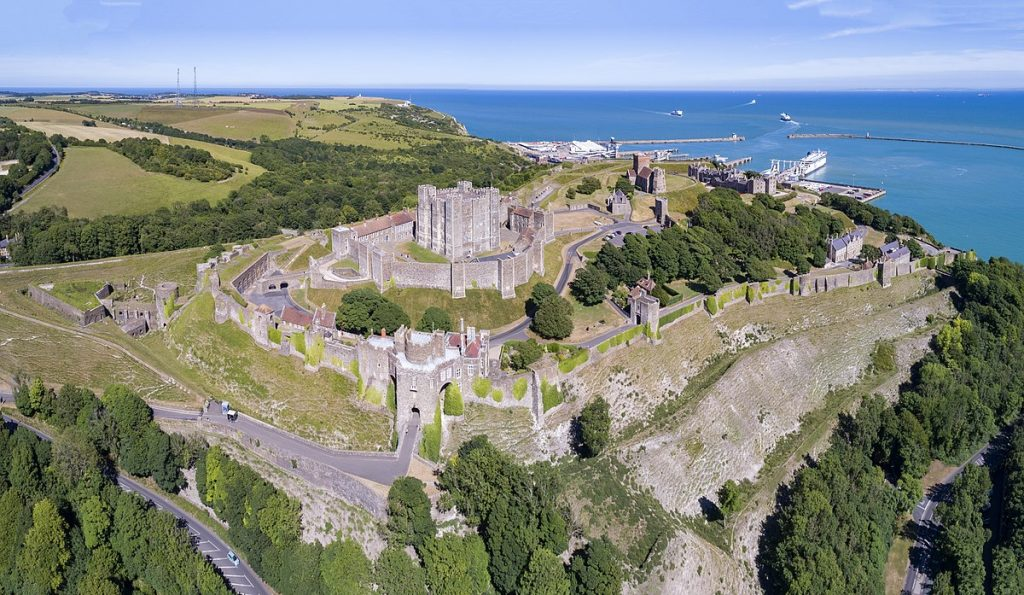 Dover Castle Aerial View