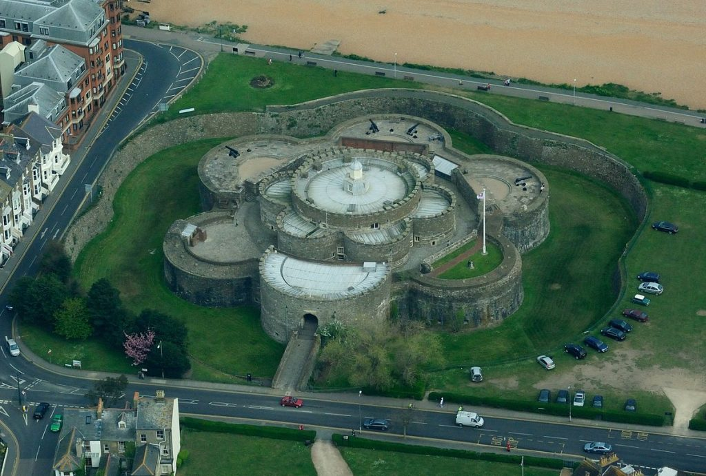 Deal Castle Aerial View