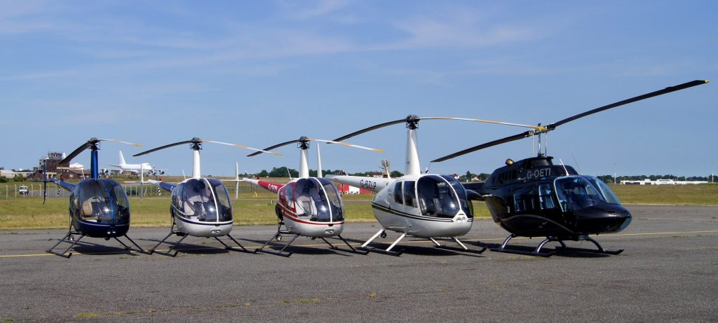 Polar Helicopters Line Up
