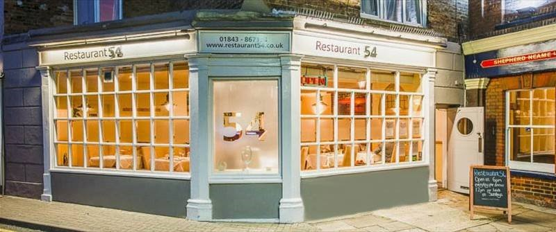 Restaurant 54 Shopfront Broadstairs