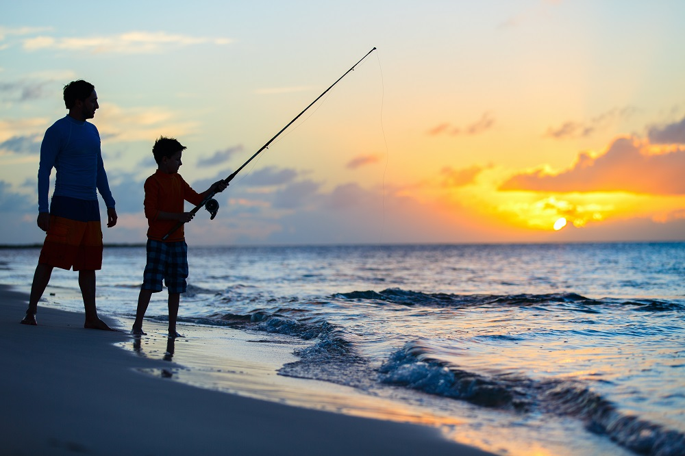Sea Fishing Father Son