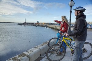 Margate Harboue Couple on Bikes