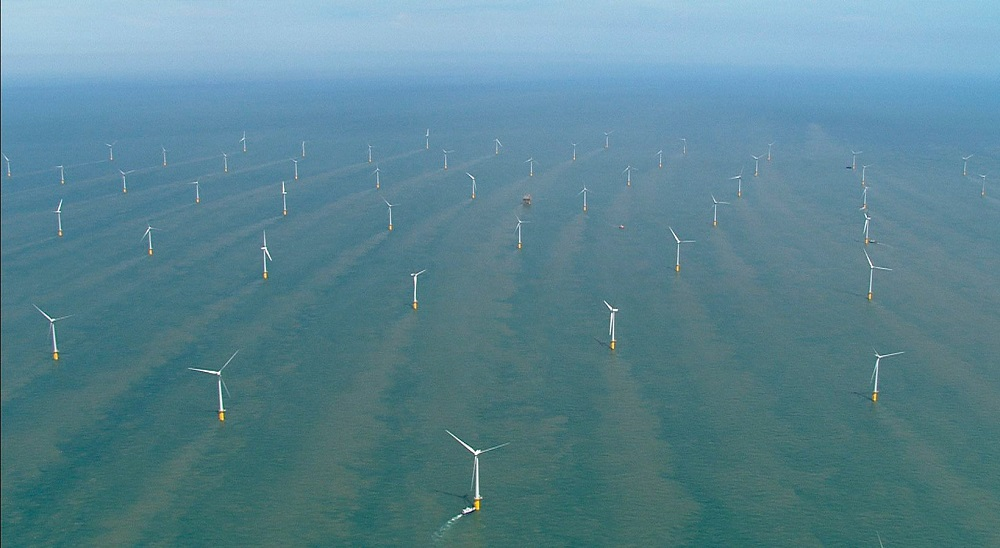 Thanet Offshore Wind Farm - Ariel