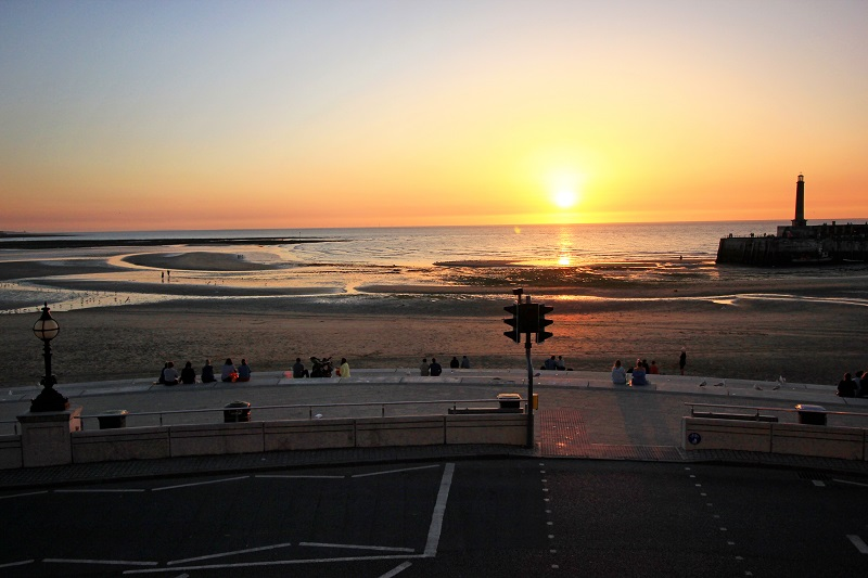 Sunset from the flat - Margate Airbnb