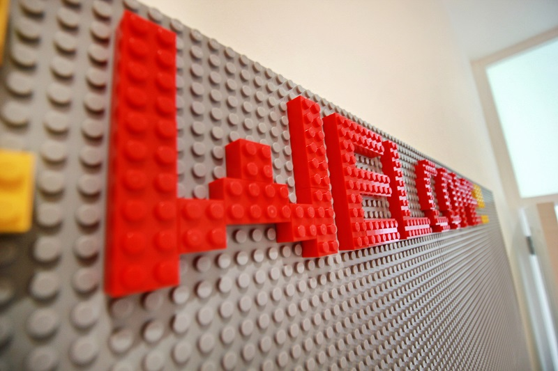 Lego wall to build creations on - Margate Airbnb